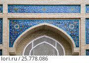 Купить «Gate of a mosque in Samarkand», фото № 25778086, снято 5 мая 2014 г. (c) Надежда Болотина / Фотобанк Лори