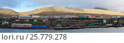 Купить «Barentsburg, Russian settlement on Svalbard, Norway, July 2016.», фото № 25779278, снято 21 августа 2018 г. (c) Nature Picture Library / Фотобанк Лори