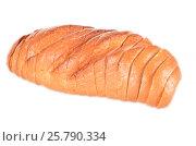 Купить «Loaf of bread isolated on white», фото № 25790334, снято 14 ноября 2013 г. (c) Владимир Ковальчук / Фотобанк Лори