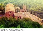 Купить «Castell de Escornalbou lost in mountains of Riudecanyes», фото № 25794278, снято 24 сентября 2016 г. (c) Яков Филимонов / Фотобанк Лори