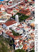 Вид сверху на город Гарачико с обзорной площадки (мирадор). Тенерифе, Канарские острова, Испания (2016 год). Стоковое фото, фотограф Кекяляйнен Андрей / Фотобанк Лори