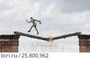 Купить «Overcoming fear of failure . Mixed media . Mixed media», фото № 25800962, снято 19 июля 2018 г. (c) Sergey Nivens / Фотобанк Лори