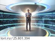 Купить «Angel investor concept with businessman with wings», фото № 25801394, снято 20 августа 2018 г. (c) Elnur / Фотобанк Лори