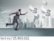 Купить «Businesspeople chasing angel investor funding», фото № 25803022, снято 22 ноября 2018 г. (c) Elnur / Фотобанк Лори