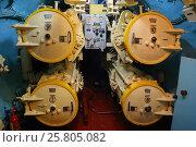 Купить «Torpedo tubes on a submarine», фото № 25805082, снято 31 июля 2015 г. (c) Михаил Коханчиков / Фотобанк Лори