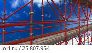 Купить «Composite image of 3d image of construction scaffolding», фото № 25807954, снято 17 июня 2019 г. (c) Wavebreak Media / Фотобанк Лори