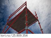 Купить «Composite image of 3d image of red scaffolding 3d», фото № 25809354, снято 17 июня 2019 г. (c) Wavebreak Media / Фотобанк Лори