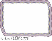 Купить «Рамка бланк шаблон для сертификата грамоты или диплома», иллюстрация № 25810778 (c) Сергей Тихонов / Фотобанк Лори