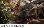 Купить «Hang Nga Guesthouse Crazy House, design Interior and Exterior landmark architecture Odd House», видеоролик № 25812090, снято 1 октября 2016 г. (c) Mikhail Davidovich / Фотобанк Лори