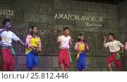 Купить «Khmer classical dancers Apsara Dance Cambodia», видеоролик № 25812446, снято 18 ноября 2016 г. (c) Михаил Коханчиков / Фотобанк Лори