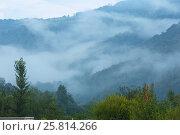 Купить «Evening mist in mountain.», фото № 25814266, снято 29 июля 2016 г. (c) Юрий Брыкайло / Фотобанк Лори