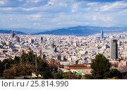 Купить «Barcelona city from Montjuic. Catalonia», фото № 25814990, снято 28 марта 2013 г. (c) Яков Филимонов / Фотобанк Лори