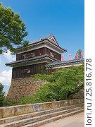 Купить «Южная Башня (16 в.) замка Уэда, г. Уэда, Япония», фото № 25816778, снято 4 августа 2016 г. (c) Иван Марчук / Фотобанк Лори