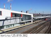 Купить «Станция МЦК «Угрешская»», фото № 25819382, снято 23 марта 2017 г. (c) Павел Москаленко / Фотобанк Лори