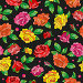Seamless pattern with spring flowers in stained glass style, flowers, buds and leaves of  multi colored roses on a dark background, иллюстрация № 25823390 (c) Наталья Загорий / Фотобанк Лори