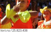 Купить «School class on line with dance», видеоролик № 25823438, снято 1 сентября 2016 г. (c) Потийко Сергей / Фотобанк Лори
