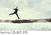 Купить «Overcome fear of failure . Mixed media», фото № 25827370, снято 12 марта 2014 г. (c) Sergey Nivens / Фотобанк Лори
