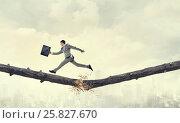Купить «Overcoming fear of failure . Mixed media», фото № 25827670, снято 12 марта 2014 г. (c) Sergey Nivens / Фотобанк Лори