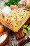 Пирог с луком и беконом. Немецкая кухня, фото № 25832894, снято 27 марта 2017 г. (c) Надежда Мишкова / Фотобанк Лори