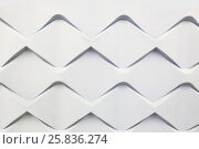 Купить «Futuristic volume pattern on wall with repeating patterns in form of rhombus, architecture wallpaper», фото № 25836274, снято 9 марта 2015 г. (c) Losevsky Pavel / Фотобанк Лори