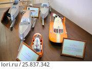 Купить «MOSCOW, RUSSIA - JUL 21, 2014: Scale models of old snowmobiling Amphibian A-3 in museum Tupolev», фото № 25837342, снято 21 июля 2014 г. (c) Losevsky Pavel / Фотобанк Лори
