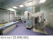 Купить «Equipment in X-rays cabinet at the hospital», фото № 25840062, снято 31 августа 2015 г. (c) Losevsky Pavel / Фотобанк Лори