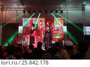 Купить «MOSCOW - OCT 12, 2014: Performances of cosplayers EveryCon 2014 on the stage in the exhibition center Sokolniki», фото № 25842178, снято 12 октября 2014 г. (c) Losevsky Pavel / Фотобанк Лори