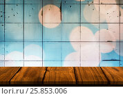 Купить «Would table against tiles with bokeh», фото № 25853006, снято 19 июля 2019 г. (c) Wavebreak Media / Фотобанк Лори