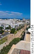 Вид на городскую стену и город Сусс с высоты (2016 год). Стоковое фото, фотограф Татьяна Никитина / Фотобанк Лори