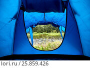 Купить «natural view from outdoor camping tent door», фото № 25859426, снято 31 августа 2014 г. (c) Syda Productions / Фотобанк Лори