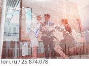 Купить «Composite image of stocks and shares», фото № 25874078, снято 17 июля 2018 г. (c) Wavebreak Media / Фотобанк Лори