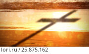 Купить «Composite image of close up of 3d wooden cross», фото № 25875162, снято 22 апреля 2019 г. (c) Wavebreak Media / Фотобанк Лори