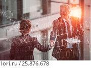 Купить «Composite image of stocks and shares», фото № 25876678, снято 17 июля 2018 г. (c) Wavebreak Media / Фотобанк Лори