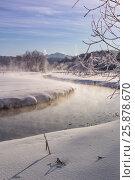 Купить «Зимняя река Пехорка», фото № 25878670, снято 26 января 2017 г. (c) Сергей Паникратов / Фотобанк Лори