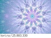 Фон в пастельных тонах с цветком. Стоковая иллюстрация, иллюстратор Дмитрий Тищенко / Фотобанк Лори