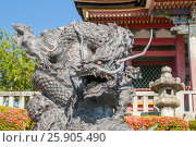 Купить «The Dragon Stone Carving at Kiyomizu-dera Temple Complex Area in Kyoto, Japan», фото № 25905490, снято 19 июля 2019 г. (c) BE&W Photo / Фотобанк Лори