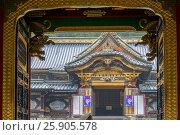 Купить «Tayiu-in, mausoleum of Tokugawa Iemitsu, famous shogun. Part of Rinno-ji Buddhist temple in Nikko Japan», фото № 25905578, снято 12 июля 2020 г. (c) BE&W Photo / Фотобанк Лори