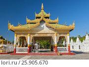 Купить «Entrance gate, Tipitaka chedis or stupas, Kuthodaw Paya, temple complex in Mandalay, Myanmar, Asia», фото № 25905670, снято 27 мая 2019 г. (c) BE&W Photo / Фотобанк Лори
