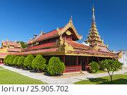 Купить «The Mandalay Palace, located in Mandalay, Myanmar, is the last royal palace of the last Burmese monarchy», фото № 25905702, снято 20 мая 2019 г. (c) BE&W Photo / Фотобанк Лори