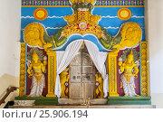 Купить «Temple of the Tooth Relic, famous temple housing tooth relic of the Buddha, UNESCO World Heritage Site, Kandy, Sri Lanka, Asia», фото № 25906194, снято 23 мая 2019 г. (c) BE&W Photo / Фотобанк Лори