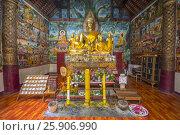 Купить «Buddha statues in Wat Aham, Luang Prabang, Laos, Indochina, Asia», фото № 25906990, снято 27 мая 2019 г. (c) BE&W Photo / Фотобанк Лори