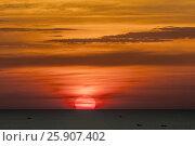 Купить «Sunset on the beach, Thailand, Koh Chang», фото № 25907402, снято 26 марта 2019 г. (c) BE&W Photo / Фотобанк Лори