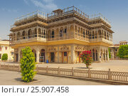 Купить «Mubarak Mahal, City Palace in Jaipur, Rajasthan, India, Indian subcontinent, South Asia», фото № 25907458, снято 25 мая 2019 г. (c) BE&W Photo / Фотобанк Лори