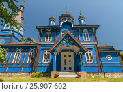 Купить «Orthodox church in Puchly (Puchіy) village north-eastern Poland», фото № 25907602, снято 23 октября 2019 г. (c) BE&W Photo / Фотобанк Лори