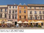 Купить «Buildings in the historic centre of Lublin, Poland», фото № 25907662, снято 22 октября 2019 г. (c) BE&W Photo / Фотобанк Лори