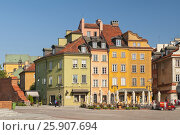 Купить «Traditional houses in the old Town Market place in Warsaw, Poland», фото № 25907694, снято 18 июня 2019 г. (c) BE&W Photo / Фотобанк Лори