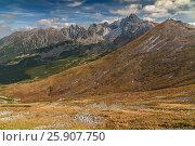 Купить «View from Kasprowy Wierch in High Tatra Mountains, Poland», фото № 25907750, снято 16 декабря 2018 г. (c) BE&W Photo / Фотобанк Лори