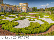 Купить «Ornamental east garden in Wilanow Royal Palace, Warsaw Poland», фото № 25907770, снято 25 марта 2019 г. (c) BE&W Photo / Фотобанк Лори
