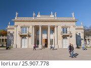 Купить «Palace on the Water in Lazienki Park, Warsaw, Poland», фото № 25907778, снято 22 октября 2019 г. (c) BE&W Photo / Фотобанк Лори