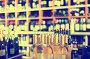 Closeup view on various alcohol beverage bottles, фото № 25910942, снято 29 апреля 2017 г. (c) Яков Филимонов / Фотобанк Лори